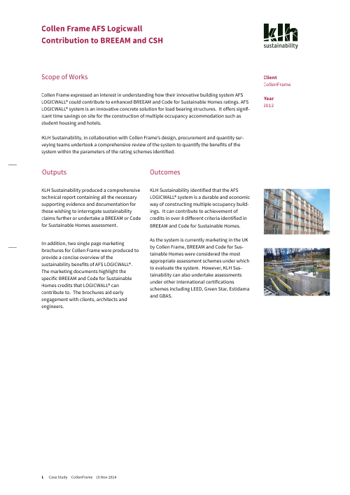 Case Studies 187 Klh Sustainability